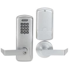 Schlage CO-100-MS-70-KP-RHO-JD CO-Series Commercial Electronic Mortise Lock with Keypad and Rhodes Lever Less Schlage Fsic