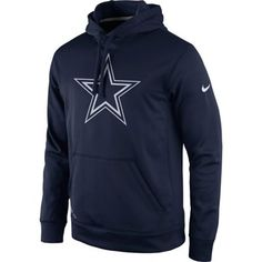 3231efb93 Dallas Cowboys Nike Practice Performance Pullover Hoodie - Navy
