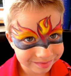 Face paint - Fire boy - Famous Last Words Face Painting Flowers, Face Painting For Boys, Face Painting Designs, Body Painting, The Face, Face And Body, Fire Makeup, Circus Makeup, Fire Kids