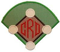 Baseball Diamond Applique Design