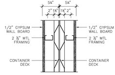 Shipping Container Plan and Section Details | Residential Shipping Container Primer (RSCP™)