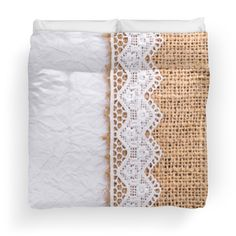 Rustic white parchment, burlap,lace,rustic,country chic, pattern,modern,trendy