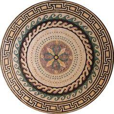 Marble Mosaic Medallion Stone Art Tile Floor Wall, 48 - deal to coupon Marble Mosaic, Stone Mosaic, Mosaic Tiles, Mosaic Designs, Mosaic Patterns, Mosaic Art Projects, Nautical Pattern, Carpet Design, Floor Design
