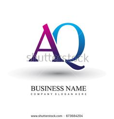 initial letter logo AQ colored red and blue, Vector logo design template elements for your business or company identity