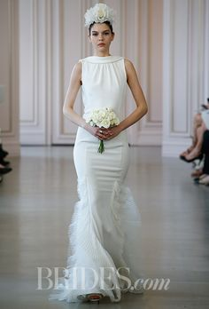 Brides: Oscar De La Renta Wedding Dresses   Spring 2016   Bridal Runway Shows   Brides.com | Wedding Dresses Style