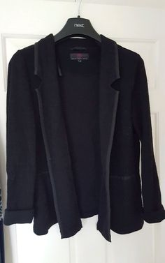 Fab Black Lite Weight Belted Jacket Size 8 10 12 14