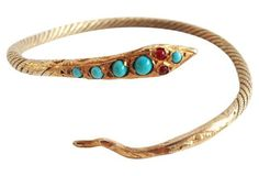 We're going to need this turquoise & rubies snake bracelet.
