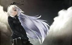 Znalezione obrazy dla zapytania white hair anime girl