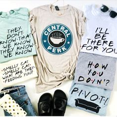tv shows Favorite TV Show Inspired Graphic Tees - Teen Shirts - Ideas of Teen Shirts - Favorite TV Show Inspired Graphic Tees Cute Shirts, Cool Tees, Funny Shirts, Friends Tv Show Shirt, Friends Show, Friends Tv Show Apparel, Cute Graphic Tees, Graphic Shirts, Vintage Graphic Tees