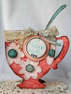 Teacup shaped card