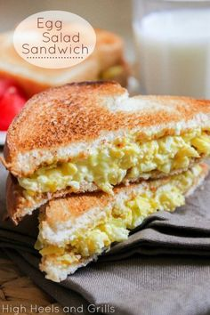 Egg Dish Recipes - Healthy Egg Salad Sandwich