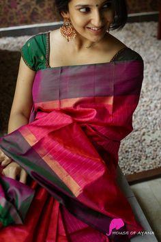 Jute Silk Saree, Kora Silk Sarees, Kanjivaram Sarees, Wedding Silk Saree, Weekly Outfits, Silk Sarees Online, Pure Silk, Black Blouse, Portrait Photography