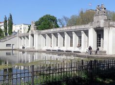 Berlin's lovely Rathaus Schöneberg U-Bahn station is located in a park by a lake. Idyllic!