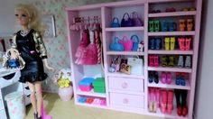 """Como fazer """"Guarda-Roupa Closet"""" com Papelão, para Barbie e Outras Bonec..."""