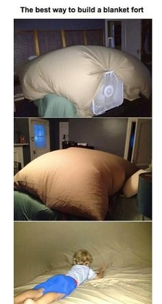 Funny pictures about The best way to build a blanket fort. Oh, and cool pics about The best way to build a blanket fort. Also, The best way to build a blanket fort. Lifehacks, Activities For Kids, Crafts For Kids, Fun Sleepover Activities, Sleepover Crafts, Fun Sleepover Ideas, Friend Activities, Dyi Crafts, Do It Yourself Inspiration