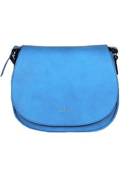 With a sleek saddle shape and suede-like texture, Angela · Roi's Morning crossbody is all about cool minimalism. The compact design boasts a practical back pocket. We speak from experience when we say this vegan style is likely to become your new go-to shoulder bag. Angela · Roi's blue styles benefit the Colon Cancer Alliance.