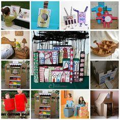 Reciclando caixas de papelão com as crianças – veja uma lista de ideias para se divertir nas férias.