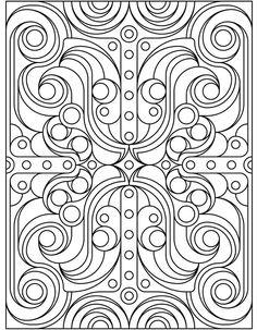 Deco Tech Coloring Book, Dover Publications.