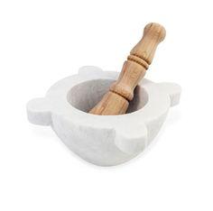 White Marble Pestel&Mortal - Marble&Wood - Crockery & Utensils - Kitchen & Dining - Homeware - Kitchenware - Kitchen Accessories - Fiammetta V.