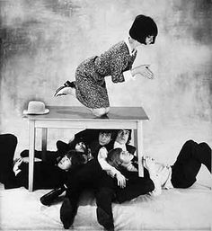 How to kill five Stones with one bird, 1964 by Norman Parkinson