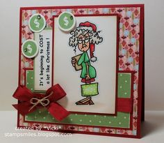 Stamp Smiles: A Christmas Cha-Ching Chuckle and a Monochromatic CAS