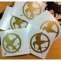 Mocking Jay Stickers!  Great for party favors.