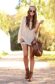 shorts and boots...when its cute, no to the work out headband