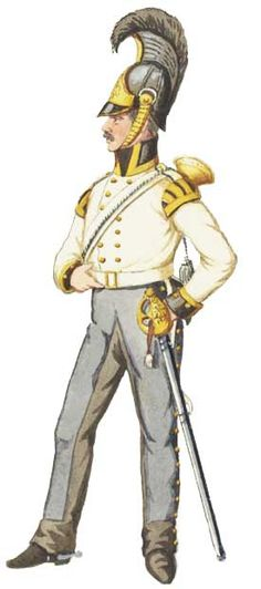 Униформа трубача Силезского кирассирского полка (№1), 1813 год - Uniformen Trompeter Silesian Kürassier-Regiment (№1), 1813