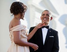 55 years young and that smile still gets me every single day. Happy birthday, Barack. I love you. -mo
