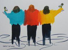 Margarita TimeThe GirlfriendsOriginal Watercolor of by yankeegirl, $50.00