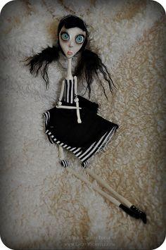 DOLL FACE Poseable Ooak Gothic Art Doll Girl #etsy
