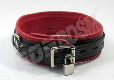 Bondage Restraint Collar w FREE PADLOCK soft padded by BONBDSM, $41.90