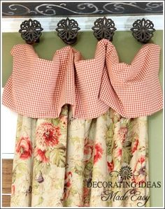 DIY:: Cottage Style Window Treatment Ideas & Tutorials ! @ Pin For Your Home