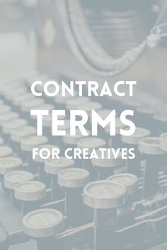 Design contract terms for creative business owners