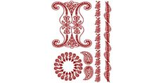 Henna: Simply Red Temporary Tattoo  Model # 6048 by ZoogSay on Etsy
