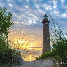 Good morning! We wanted to start the day by sharing this beautiful shot of the Little Sable Point Light in Mears captured by @jasonmciver. #PureMichigan #Lighthouse