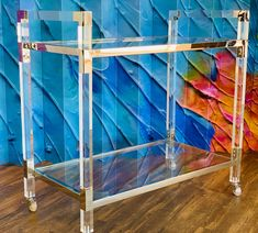 How sleek is this acrylic bar cart? You need this!