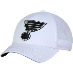 41452122378 Men s St. Louis Blues adidas White Tonal Structured Flex Hat