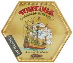 Tortuga Caribbean Chocolate Rum Cake, 16-Ounce Box Baked fresh every day in the Cayman Islands   Serving per cake 4 to 8   Shelf life 9 months.   Requires no refrigeration. Tortuga is the authentic and original world famous Rum Cake.. Guaranteed quality!. We use only the finest high quality ingredients, including our specially blended oak barrel aged 5 year old Tortuga Gold Rum..