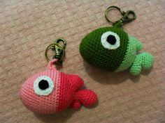 Chaveiro peixe de croche | Lilinhas | 112D46 - Elo7