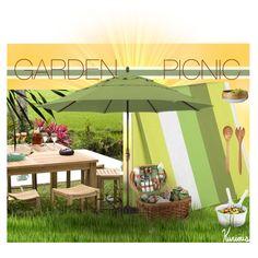 """Garden Picnic"" by kurious on Polyvore   #polyvore #interior #home #modern #contemporary  #picnic #outdoor #entertaining #interiordecorating #interiordesign"