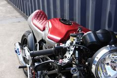 "Via eturnofthecaferacers.com - Gary Vincente's ""Frenkenstein"" #Ducati #caferacer using parts from an ST2, Monster, 1198 and many more!"