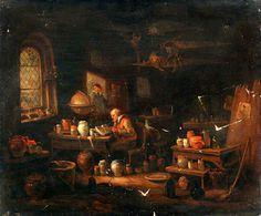 An Alchemist or Apothecary in His Laboratory. EGBERT VAN HEEMSKERCK The elder