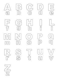 Lettere e numeri - Lettere stampato maiuscolo e minuscolo dalla A alla Z
