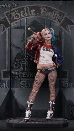 Harley Quinn statue, sculpted by James Marsano.