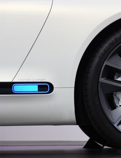 Honda EV Electric Concept car 2017 # Aerodynamic Car Color Accent Electric Vehicle Honda icon LED Light Minimalist Sport Transport User Interface White