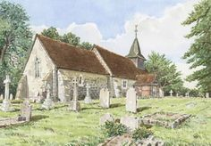 Pyrford Church Surrey - Church Art by John Lynch - Front