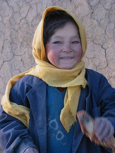 Little Hazara girl. The Hazara are a Persian speaking people who live in central Afghanistan snd Pakistan.