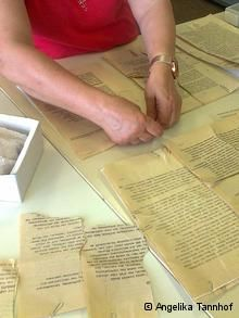 Archivists piece together puzzles