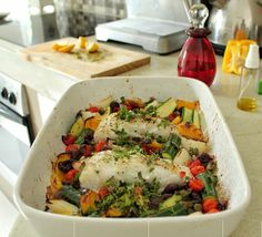 Grilled kingklip with Mediterranean veg
